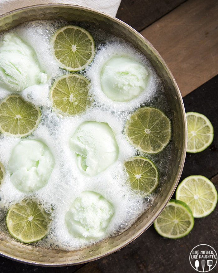 Lime Sherbet Punch with sprite