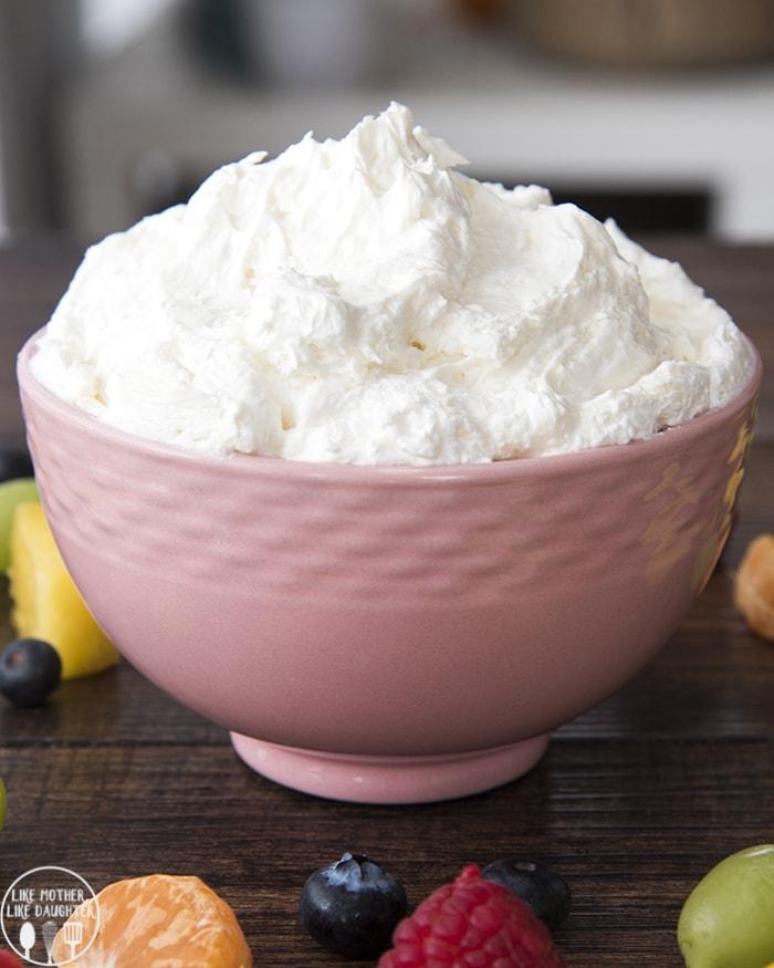 Fruit Dip with Marshmallow Creame