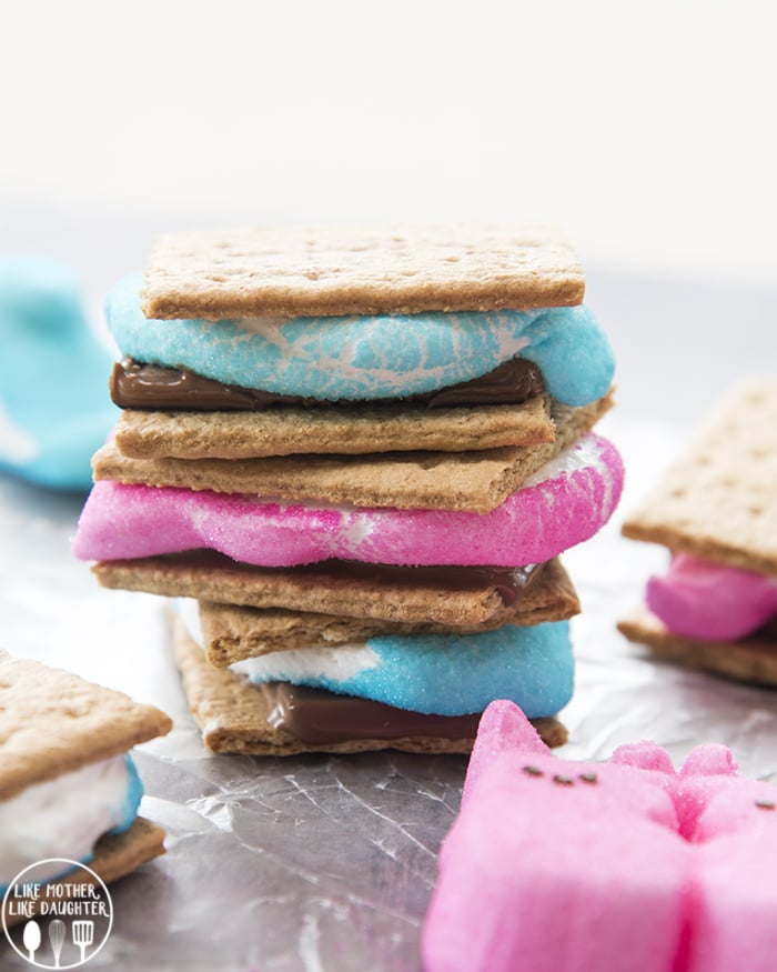 S'mores made with peeps