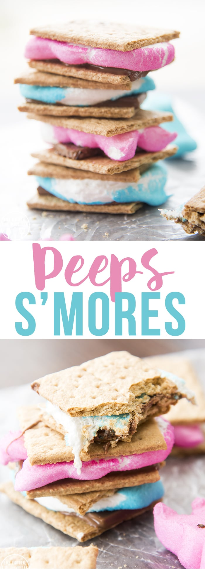 Peeps smores are a fun indoor s'more made with Peeps instead of traditional marshmallows!