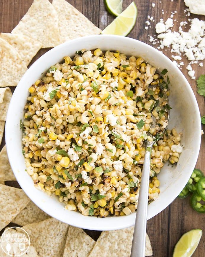 Mexican Corn Dip tastes like Mexican Street Corn, but in dip form.