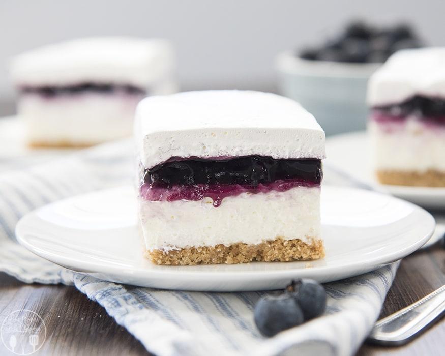 No Bake Blueberry Cheesecake Bars