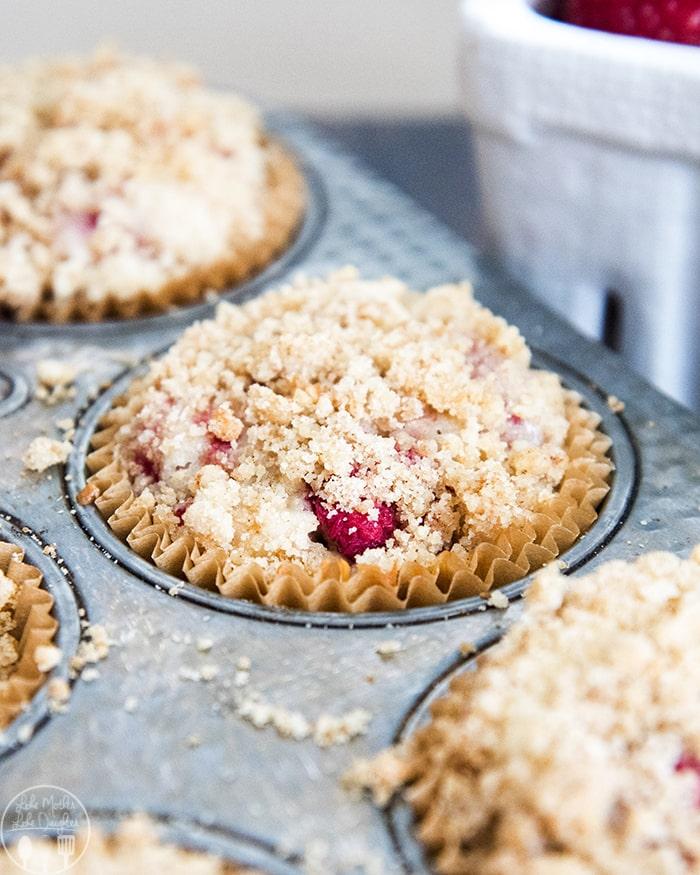 Raspberry Crumb Muffins