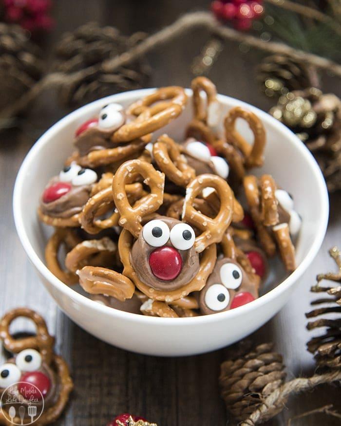 Rolo Pretzel Reindeer Treats