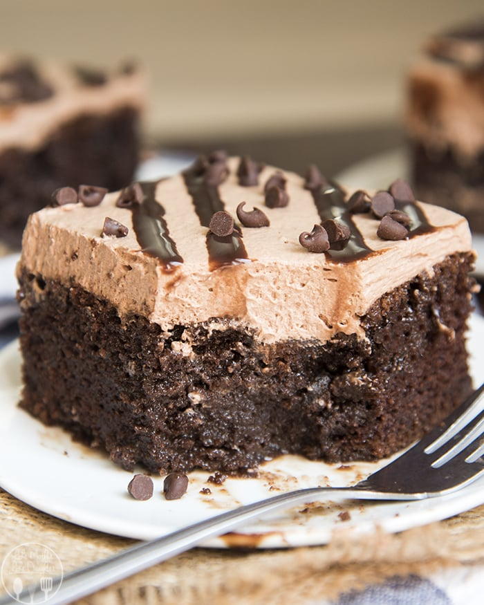 Chocolate Poke cake for all the chocolate lovers out there!