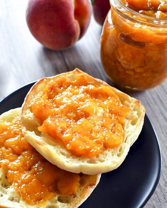 Homemade Peach Jam without any pectin
