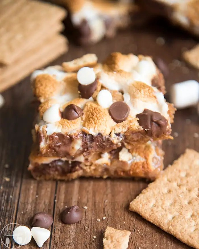 S'mores Cookie Bars with sweetened condensed milk