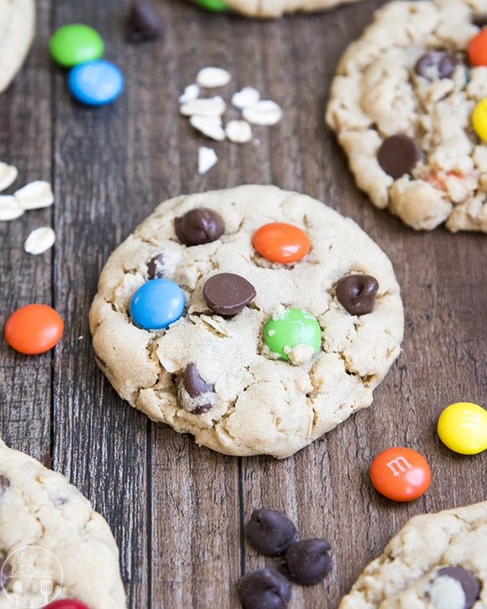 Peanut Butter Oatmeal Monster Cookies