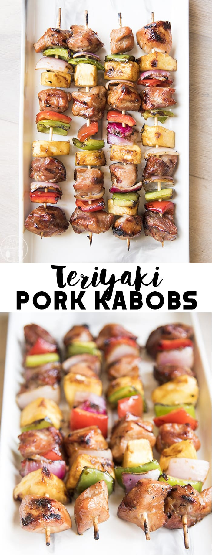 These teriyaki pork kabobs are quick and easy, and so delicious. Perfect for a backyard barbecue, the kabobs are bursting with flavor and packed with juicy pork!