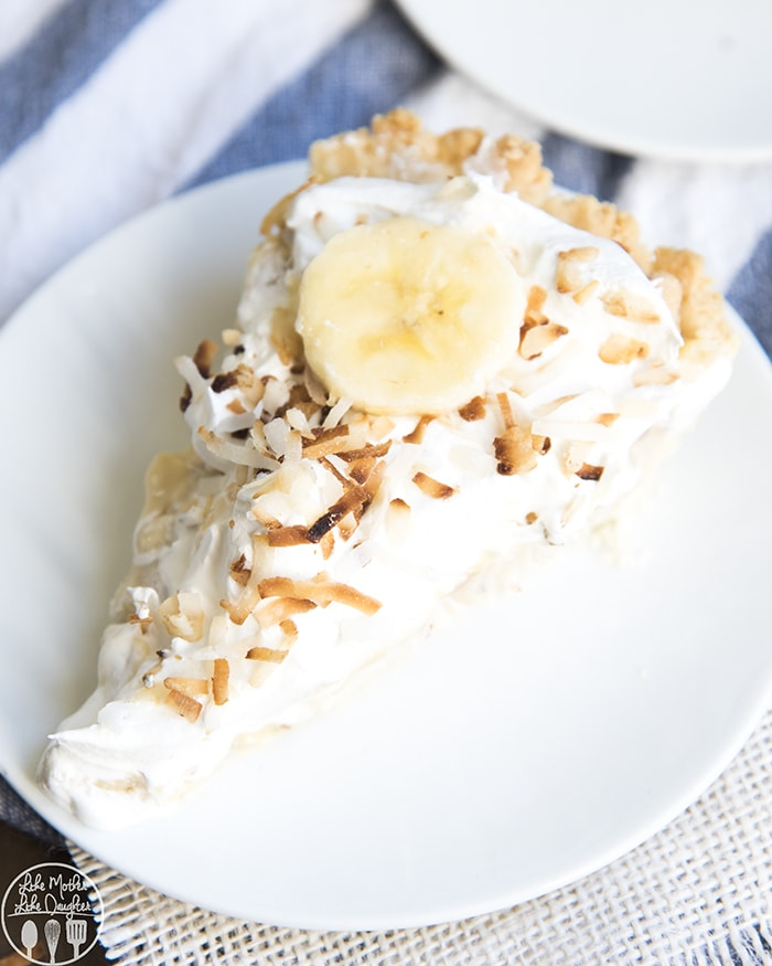Banana Coconut Cream Pie perfect for Thanksgiving