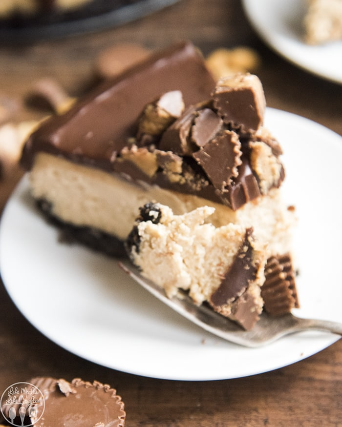 Peanut Butter Cheesecake with an oreo crust and chocolate ganache