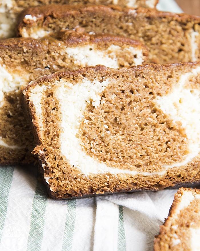 Cream Cheese Swirl Pumpkin Bread