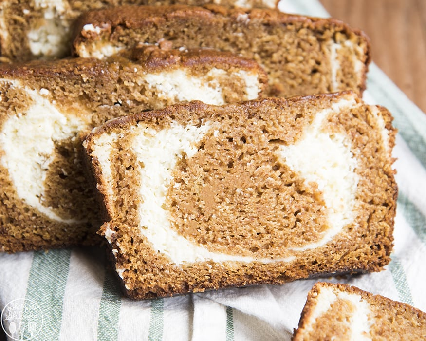 Pumpkin Cream Cheese Swirl Bread