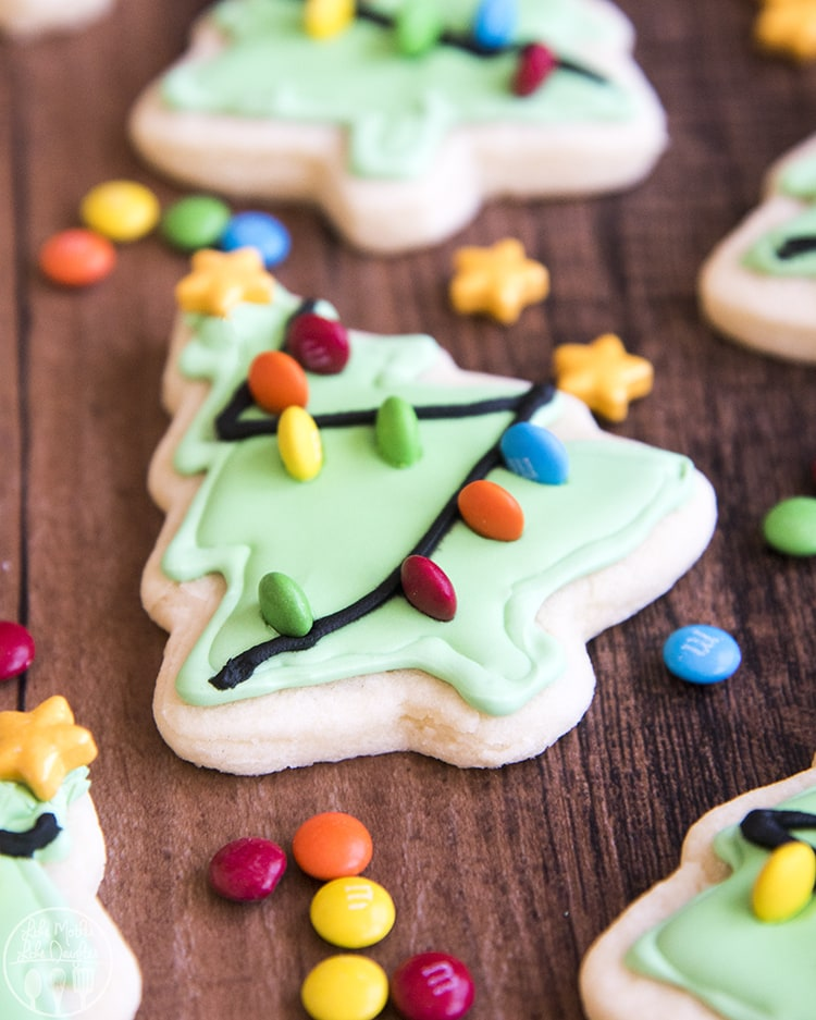 Christmas Tree Sugar Cookies Recipe