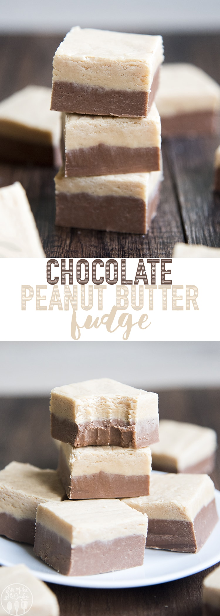 This Chocolate Peanut Butter Fudge is an irresistible creamy and delicious fudge. It's the perfect combination of chocolate fudge and peanut butter fudge, and a delicious treat that everyone will love!