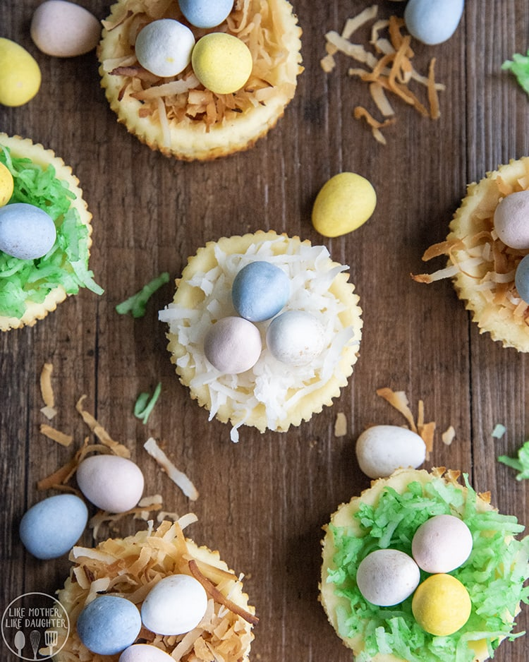 Easter Mini Cheesecakes