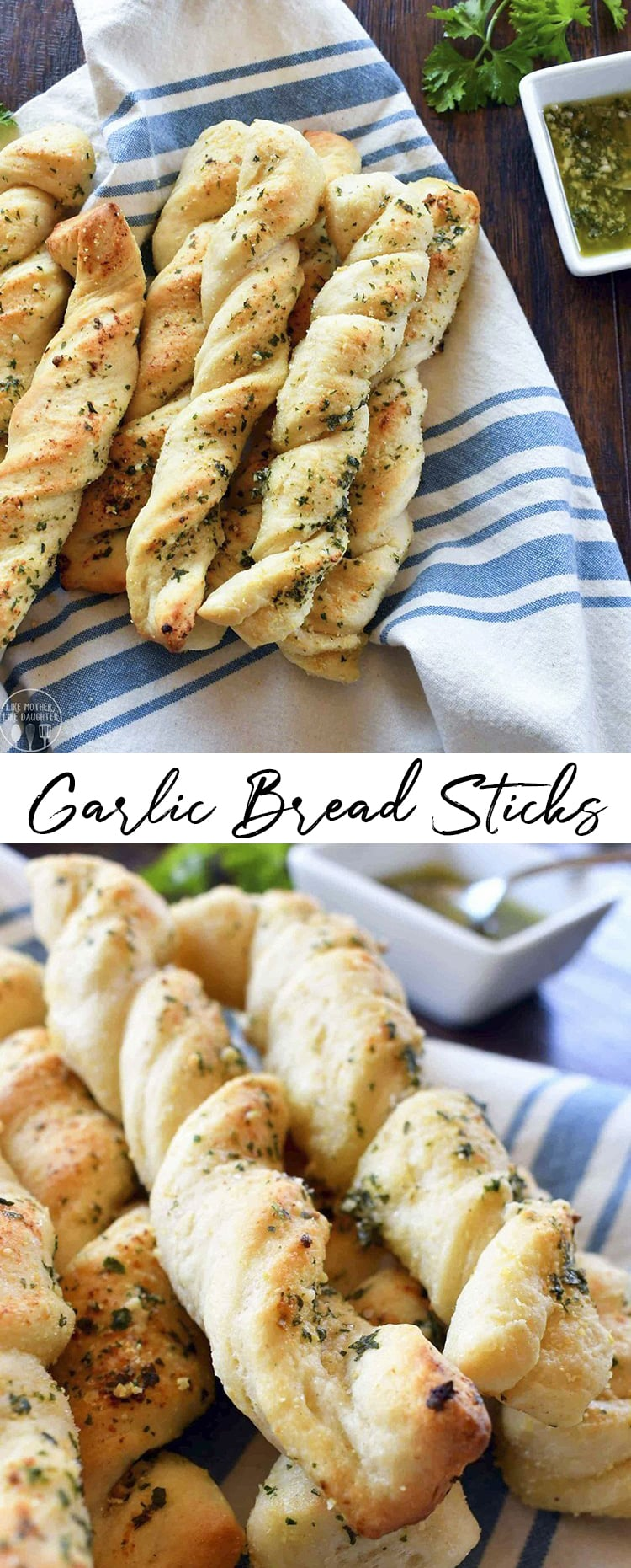 These homemade garlic bread sticks are perfect paired with soups, salads, pastas, pizzas, and more! They're covered in melted butter and herbs and the easiest bread sticks you'll have make.