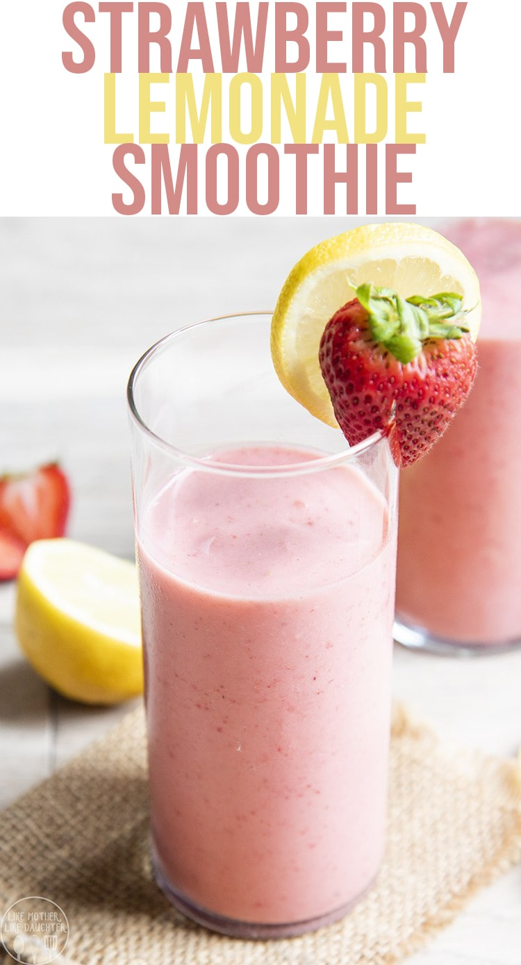 This strawberry lemonade is the perfect fresh way to start your day, or for a tangy sweet snack. It's only 3 ingredients and so refreshing for a hot summer day!