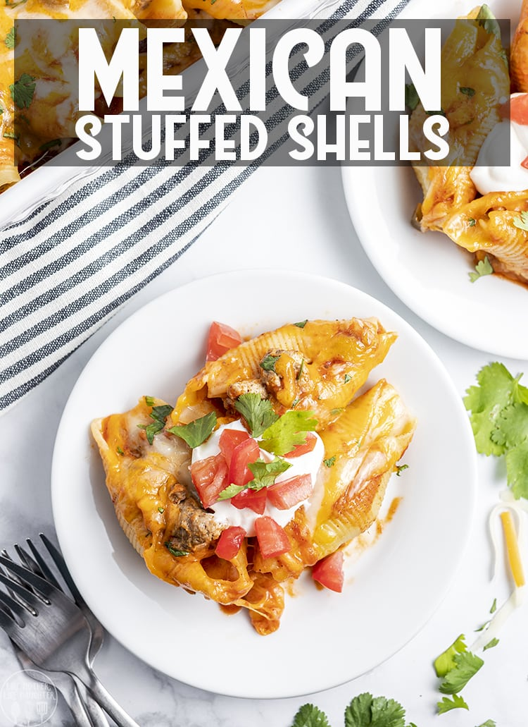 Mexican stuffed shells are a delicious combination of Mexican flavors and pasta, with seasoned ground beef and gooey cheese, its a dinner everyone will love!