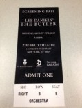 Screening Pass for The Butler