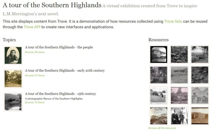 A tour of the Southern Highlands