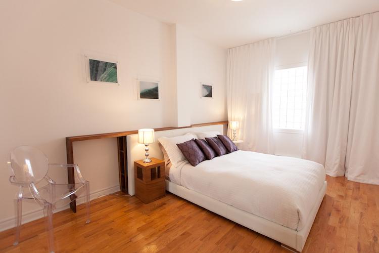 chambre de l'appartement meublé mile-end montréal, 3 chambres, LM Montréal, Location meublée à Montréal tout inclus, location de courte durée ou de moyenne durée