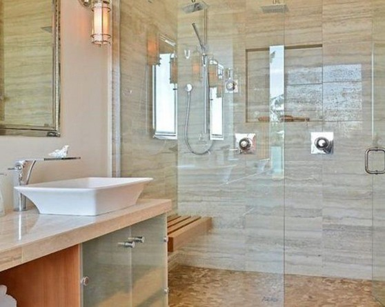 11 Luxurious Wooden Shower Floor Tiles Designs Ideas For Bathroom Remodel 26