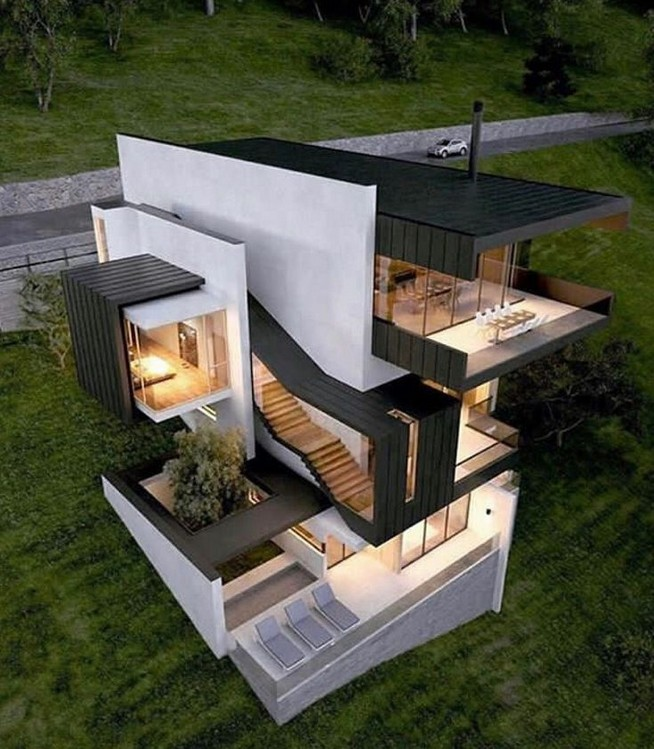12 Minimalist Home Exterior Architecture Design Ideas 36