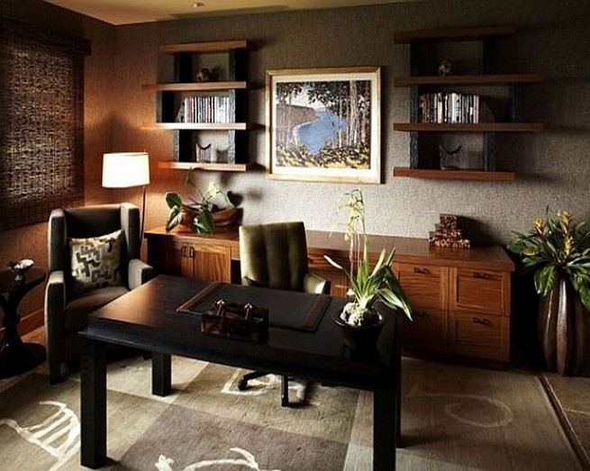 13 Elegant Dark Table Designs Ideas For Home Office 17