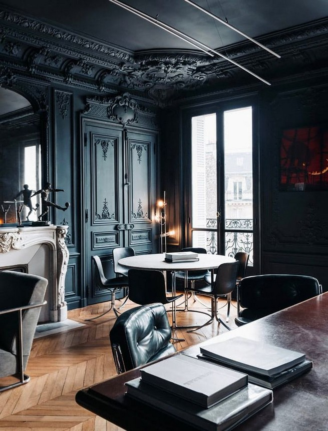 13 Elegant Dark Table Designs Ideas For Home Office 46