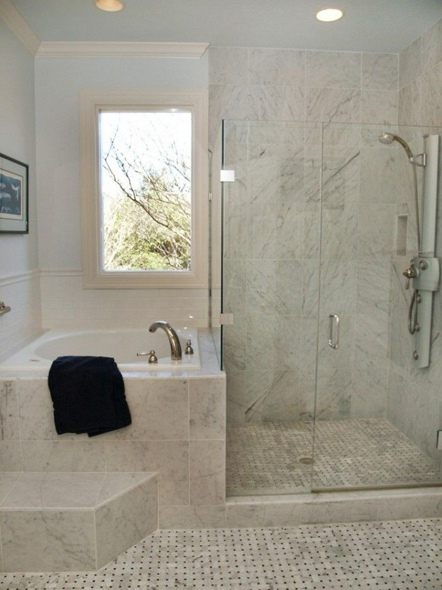 14 Delightful Bathroom Tub Shower Combo Remodeling Ideas 42