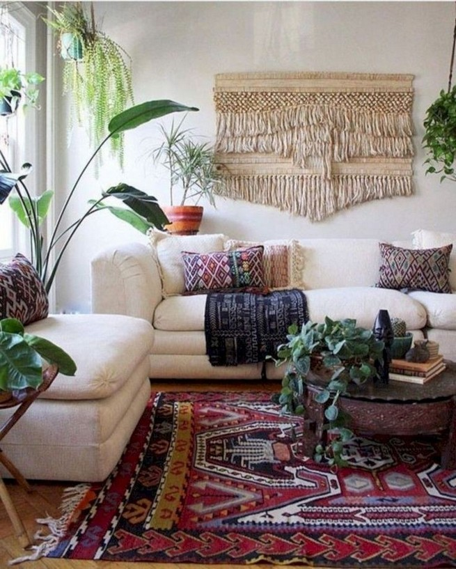 14 Incredible Colorful Bohemian Living Room Ideas For Inspiration 06