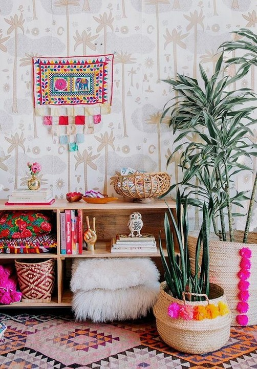 14 Incredible Colorful Bohemian Living Room Ideas For Inspiration 18