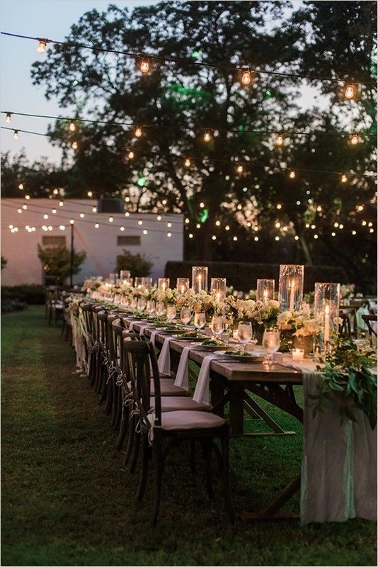 15 Rustic Backyard Outdoor Wedding Ideas 62
