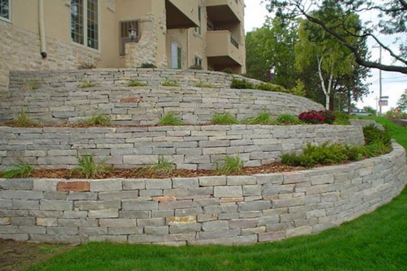 16 Delicate Garden Landscaping Design Ideas Using Rocks Stone 10
