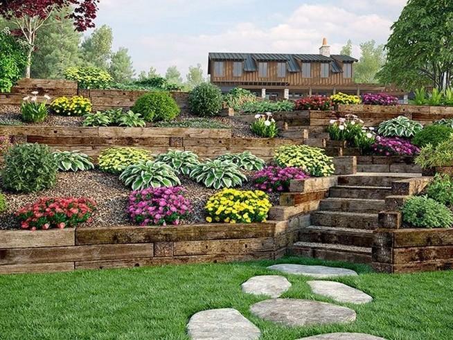 16 Delicate Garden Landscaping Design Ideas Using Rocks Stone 26
