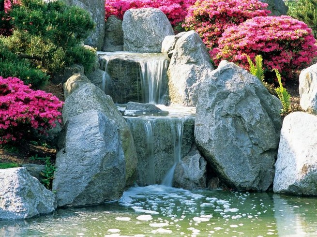16 Delicate Garden Landscaping Design Ideas Using Rocks Stone 28