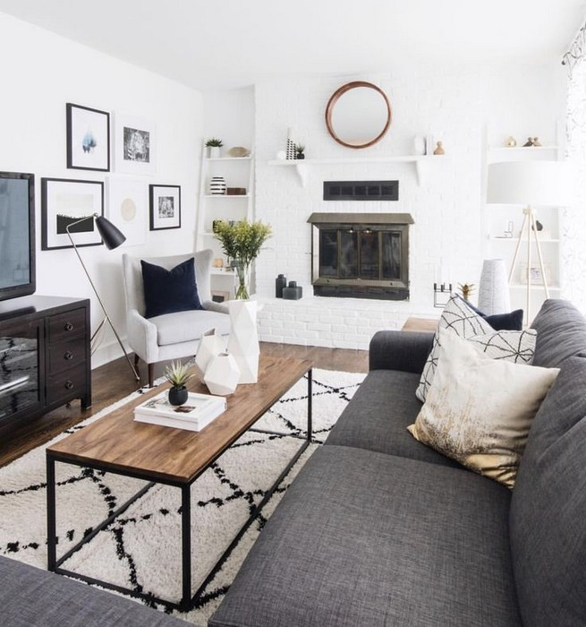 16 Elegant Living Room Shelves Decorations Ideas 15