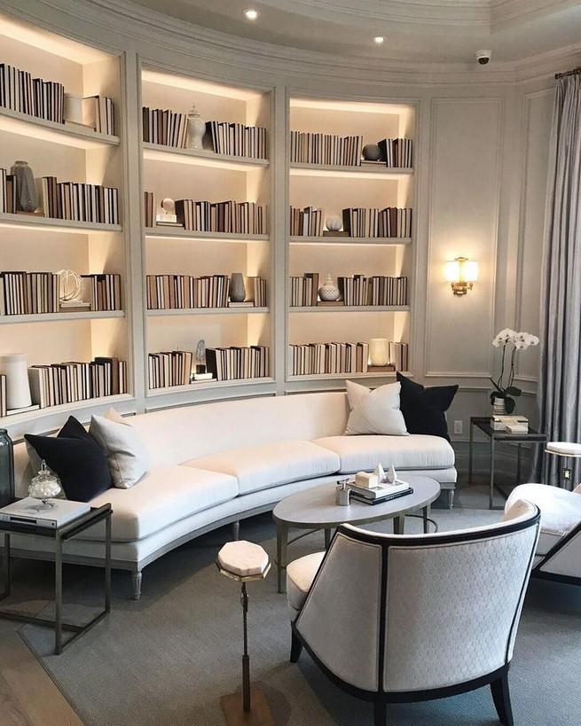 16 Elegant Living Room Shelves Decorations Ideas 19