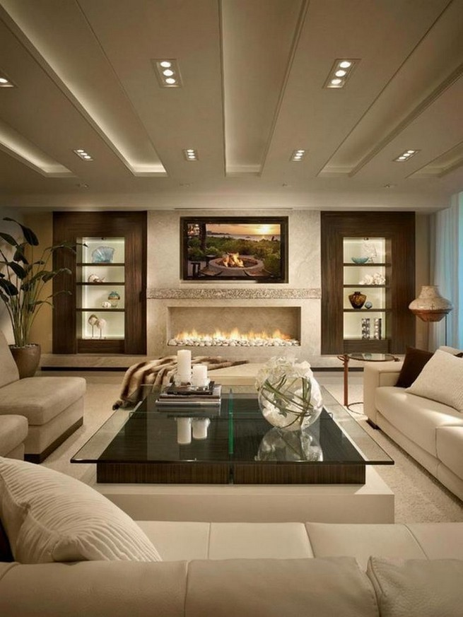 16 Elegant Living Room Shelves Decorations Ideas 25
