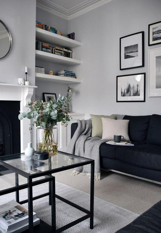 16 Elegant Living Room Shelves Decorations Ideas 37
