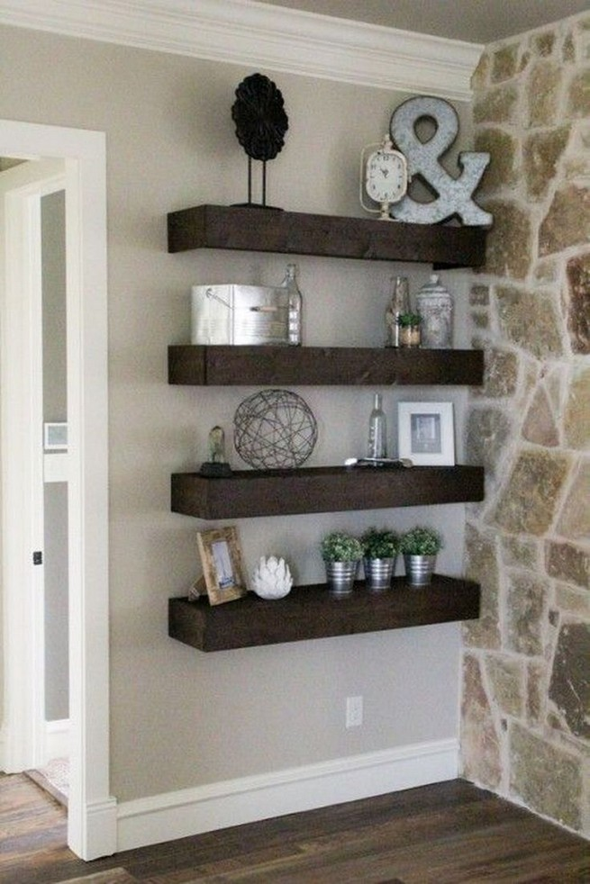 16 Elegant Living Room Shelves Decorations Ideas 48