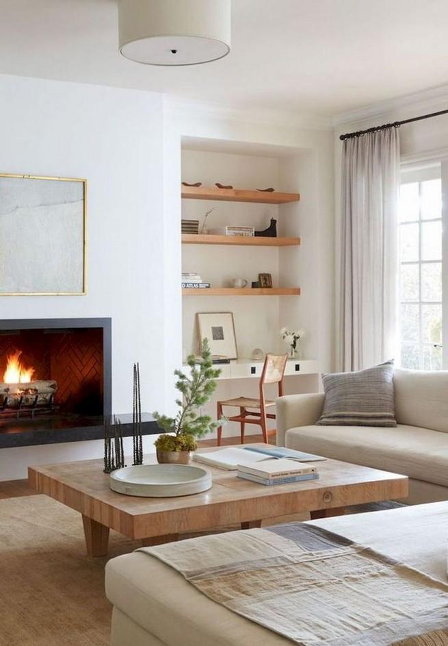 16 Elegant Living Room Shelves Decorations Ideas 50