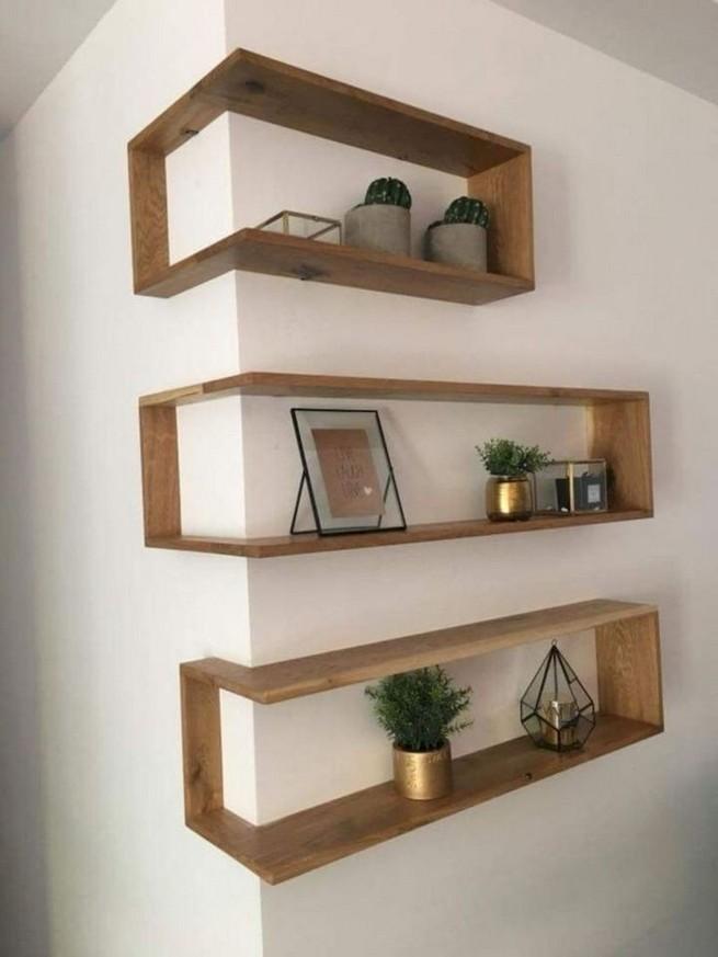 16 Elegant Living Room Shelves Decorations Ideas 55