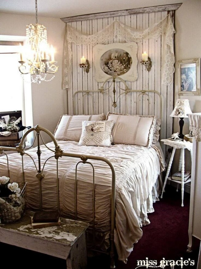18 Shabby Chic Bedroom Design Ideas 31