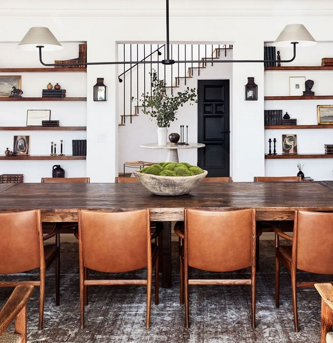 12 Creative Rustic Dining Room Design Ideas 16