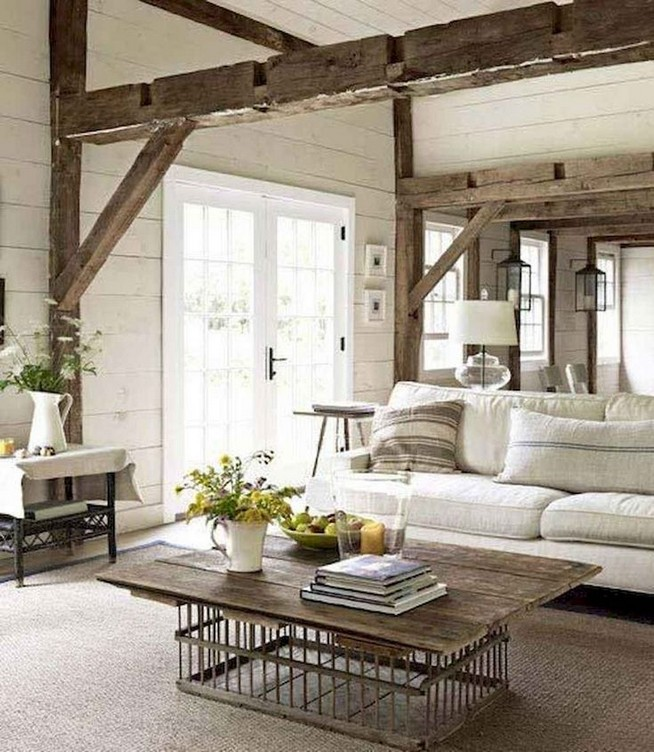 15 Cozy Farmhouse Living Room Decor Ideas 34