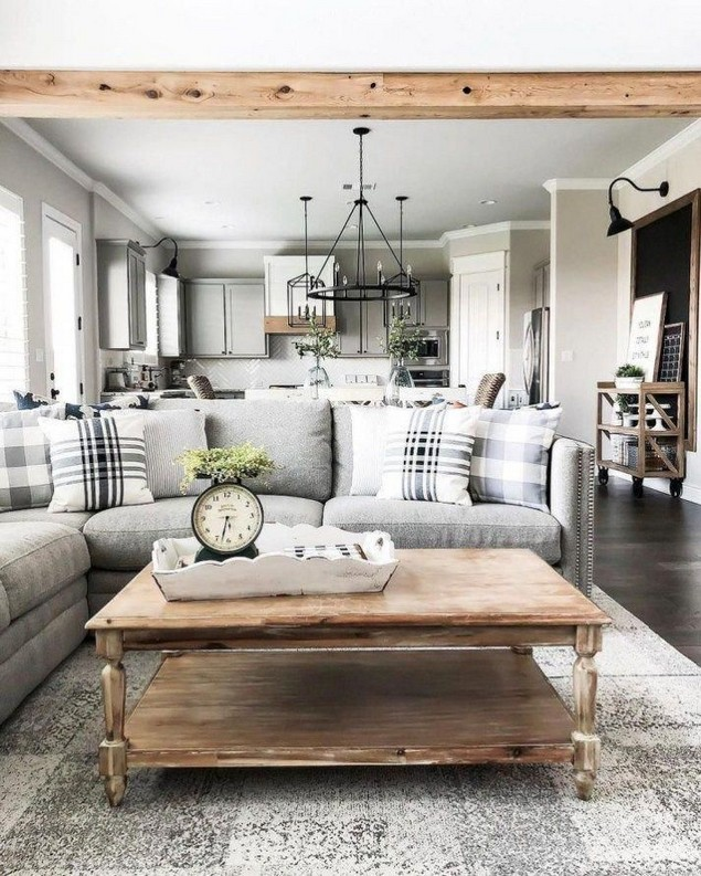 15 Cozy Farmhouse Living Room Decor Ideas 36