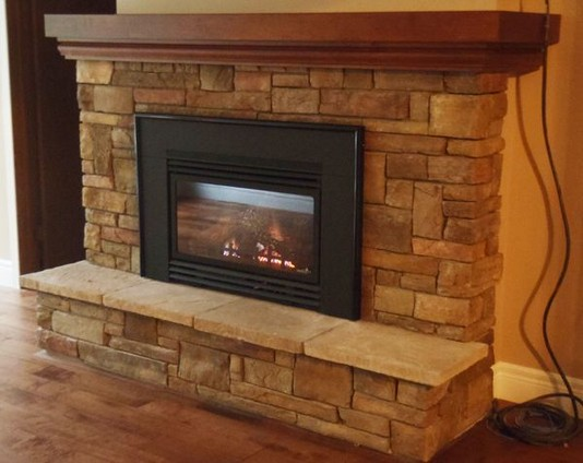 18 Popular Rustic Painted Brick Fireplaces Ideas 21