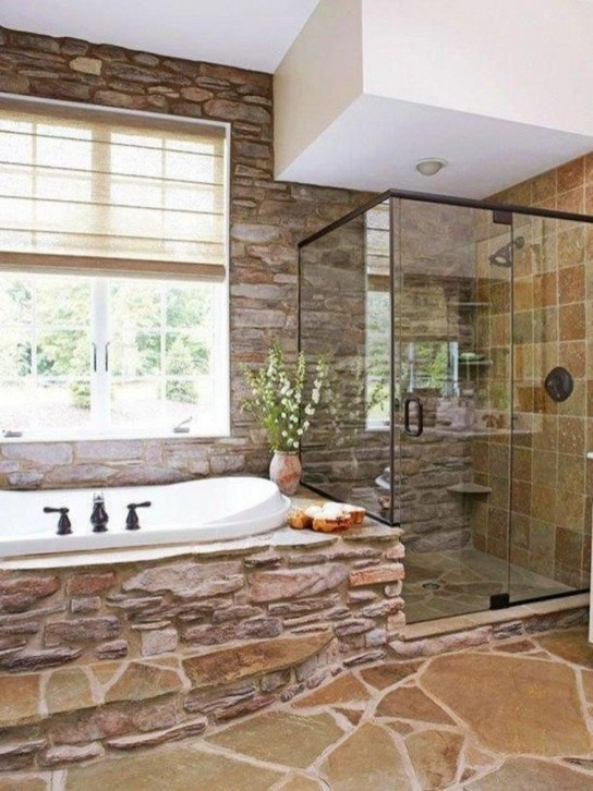 18 Stylish Bathroom Designs Ideas With Addition Of Stone For Elegant Look 32